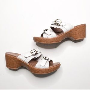 Dansko Sophie White Double Strap Comfort Sandal 38